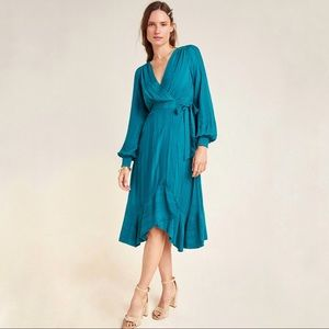 NWT Anthropologie Boswell Textured Wrap Tunic
